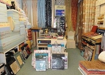 The interior of our Curtains Cushions Blinds Shop in London Road, North Cheam, SM3 9DF