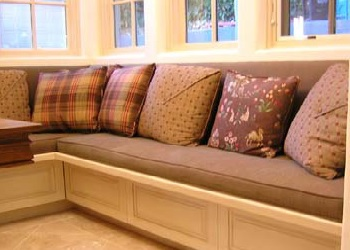 We offer Window Seat Cushions in a Box Piped Style