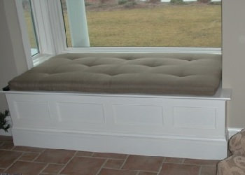 We offer Window Seat Cushions in a Buttoned Style