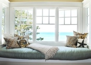 We offer Window Seat Cushions with Feather Interiors