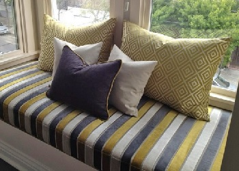 We offer Window Seat Cushions in a Plain Edged Style
