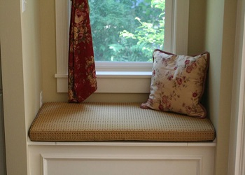 We offer Window Seat Cushions in a Rectangular Shape